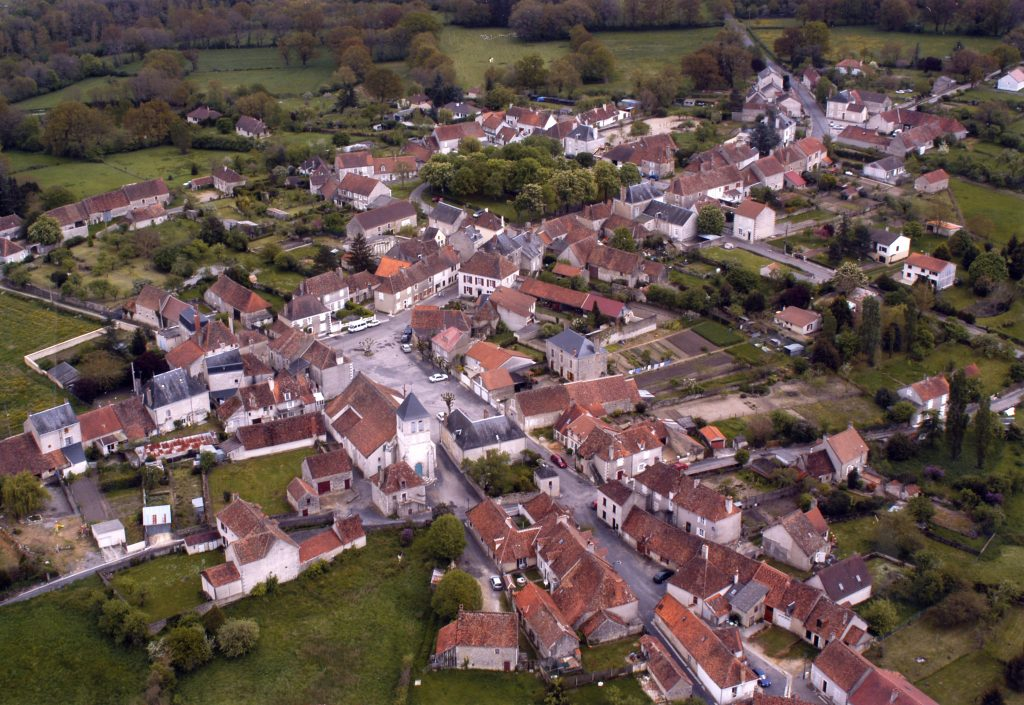 Vue aérienne de Liglet