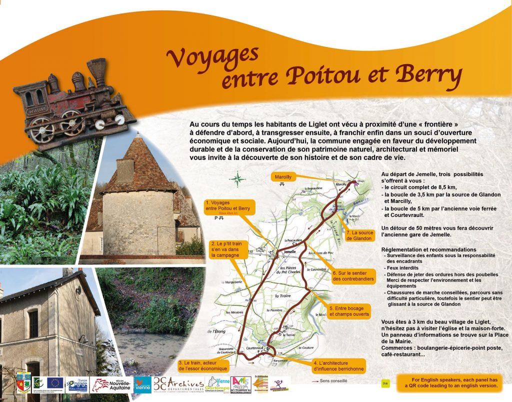Voyages entre Poitou et Berry - Panneau 1