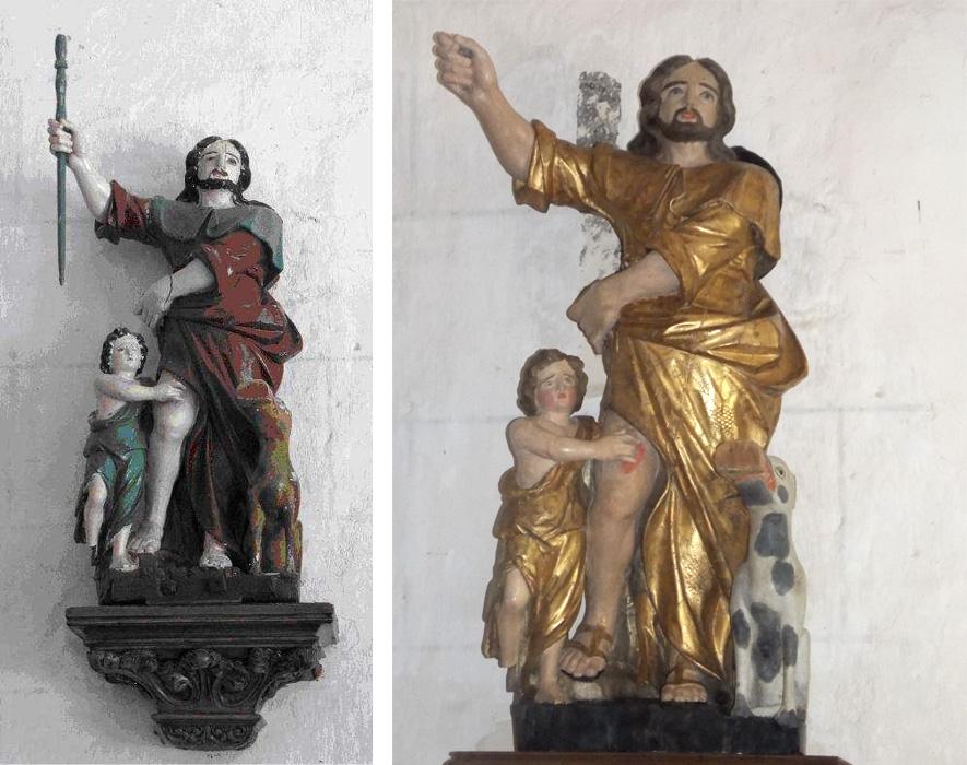 Saint-Roch avant et après restauration